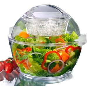 PRODYNE Iced Up Salad To Go Carry & Serve Bowl OS